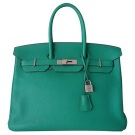Hermès-HERMES BIRKIN BAG 35 mint-Green