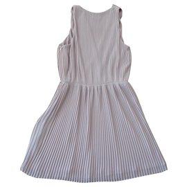 Halston Heritage-Pleated mini dress-Beige