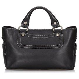 Céline-Celine Black Leather Boogie-Black