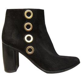 Chloé-Chloé suede boots 38 1/2-Black