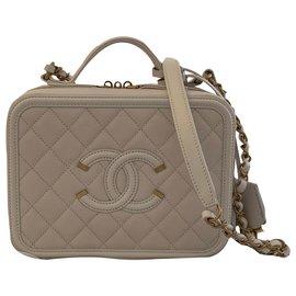 Chanel-CHANEL VANITY CASE-Cream