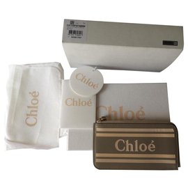 Chloé-Vick card wallet-Beige