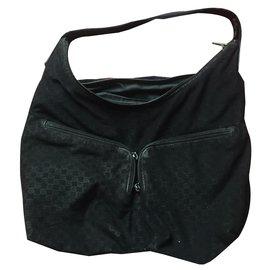 Gucci-Gucci canvas bag-Black