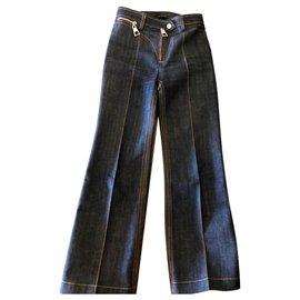 Louis Vuitton-Jeans taille haute,  2016-Bleu