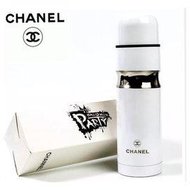 Chanel-Verre thermos VIP en acier inoxydable CHANEL-Blanc