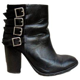 Ikks-buckle boots IKKS size 38-Black