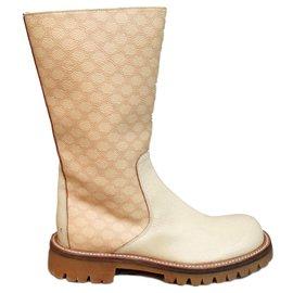 Céline-Céline size biker boots 36 1/2-Beige