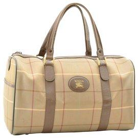 Burberry-Burberry Nova Check Hand Bag-Brown