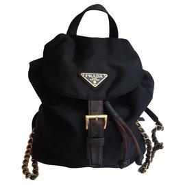 Prada-Backpacks-Black