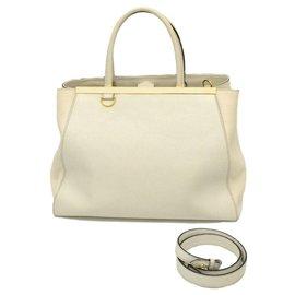 Fendi-Fendi Leather Bag-White