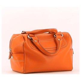 Céline-Handbag-Orange