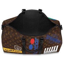 Louis Vuitton-Louis Vuitton Keepall édition limitée-Marron