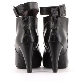 Chanel-Ankle Boots / Low Boots-Black