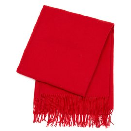 Hermès-OVERSIZE RED CASHMERE-Red