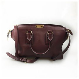 Burberry-Burberry Red Clifton Satchel-Red,Other
