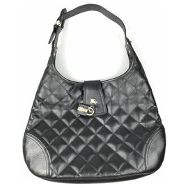 Burberry-Burberry Black Quilted Brooke Hobo-Black