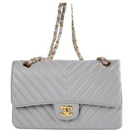Chanel-Chevron Classic medium-Grey