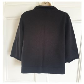 Chloé-Cropped Cardi Coat-Black