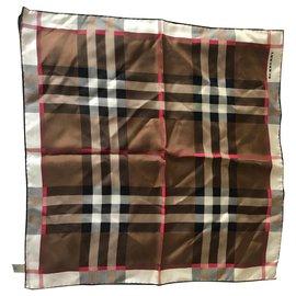Burberry-Silk scarves-Brown