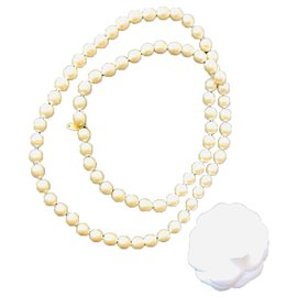 Chanel-Chanel long necklace-White