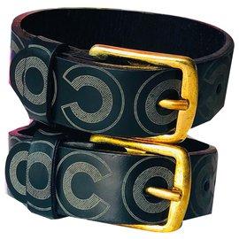 Chanel-Chanel leather bracelet-Brown