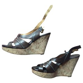 Chloé-chaussures chole-Marron