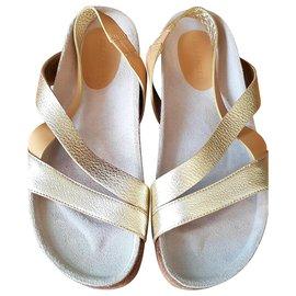 Jil Sander-sandals-Golden