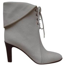 Chloé-Ankle Boots-Cream