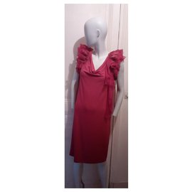 Givenchy-Magnifique Robe Framboise-Fuschia