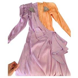 Attico-Dresses-Orange
