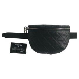 Chanel-Sac de taille-Noir