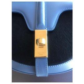 Céline-CELINE BAG 16 BESACE SMALL MODEL IN CALF-Blue