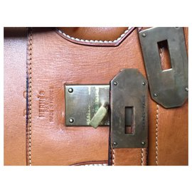 Hermès-hermes belt top Hac-Light brown