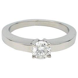 """Cartier-Solitaire Cartier, """"Déclaration"""", or blanc, diamant.-Autre"""