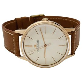 Jaeger Lecoultre-Jaeger Lecoultre watch in pink gold, Leather bracelet.-Other