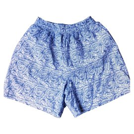 Maje-Joli short MAJE taille haute-Blanc,Bleu,Bleu clair