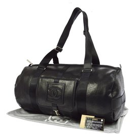 Chanel-CHANEL SPORT bag Reptile print-Black