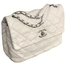 Chanel-Maxi Timeless Bag with Chanel Box-Beige,Other,Cream