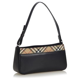 Burberry-Burberry Black Leather Baguette-Black,Multiple colors