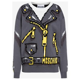 Moschino-Moschino Sweater SIM'S Collection Capsule Edition very limited.-Grey