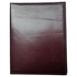 Hermès-Weekly agenda cover-Dark red