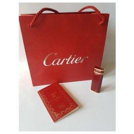 Cartier-Cartier lighter-Golden,Dark red