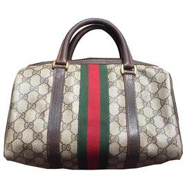 Gucci-gucci Boston vintage bag-Marron