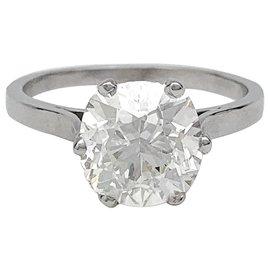 inconnue-Bague diamant 2,77 carats, or blanc.-Autre