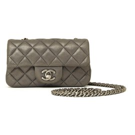 Chanel-TIMELESS CLASSIC MINI LEAD GRAY-Dark grey