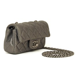 Chanel-TIMELESS CLASSIC MINI LEAD GREY-Gris anthracite
