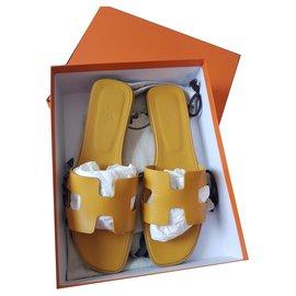 Hermès-Hermes Oran OCRE JAUNE-Mustard