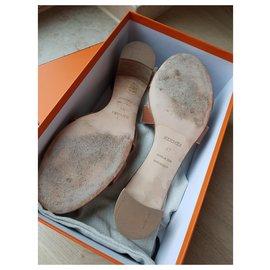 Hermès-Hermes Oasis sandals-Brown
