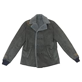 Autre Marque-leather jacket-Olive green