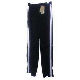 Burberry-Pants, leggings-Black